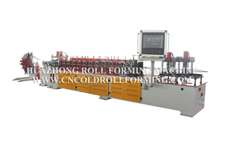 GUIDE GROOVE AND FOOT BRACKET ROLL FORMING MACHINE