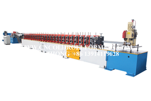 GUIDE ROLL FORMING MACHINE WITH PUNCHING